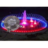 China 12V DC 18 W LED Underwater Light / RGB Remote Control LED Fountain Lights on sale