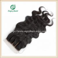 Silk top closure5''x5'' brazilian virgin hair natural color body wave 10''-24''L three way Manufactures