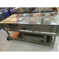 Stainless Steel 8 Pans Bain Marie with Under Shelf 1500*700*800mm Manufactures