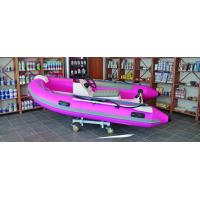 Semi - FRP Inflatable RIB Boats Tube 3.3 Meter Length Pink Color Manufactures