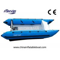 Safety Durable Marine 4.1m High Speed Inflatable Boats With CE Certificate Manufactures
