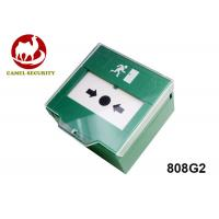 Resettable Fire Alarm Green Manual Call Point ,Emergency Push Button Switch DPDT Function Manufactures