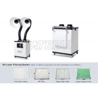 Buy cheap Acrylic Cover Nail Salon Fume Extractor , Portable Smoke Extractor Six Layer from wholesalers