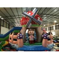 Buy cheap New Designs Kids Inflatable Bounce House With Slide Beautiful Inflatable Mushroom Jump House from wholesalers