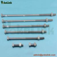 High tensile HDG ANSI C135.10 square machine bolt for Pole Line Hardware Manufactures