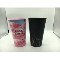 China 3D Lenticular Printed Plastic Cups With Lid And Red Heart Stopper Water Mug on sale