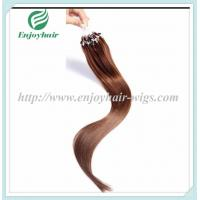 """Micro ring loop hair extensions 16""""-26""""L brazilian remy hair 6# color hair Manufactures"""