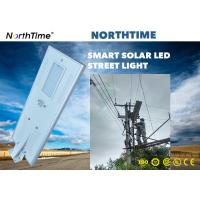 Renewable 80W Solar Powered Street Lamp For Government Project / LED Solar Road Lights Manufactures