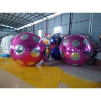 Customized Striped Dot Inflatable Mirror Ball With Repair Kits , 52*45*45cm Manufactures