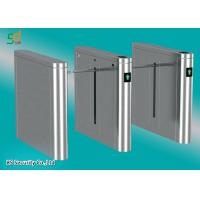 Single Or Dual Core Drop Arm Barrier Card Reader Turnstile Gate System Manufactures