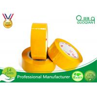 Yellowish Colored Duct Tape Waterproof Masking Tape For Carton Sealing Hot Melt Adhesive Manufactures