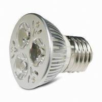 Small 3x1W high power MR16 led spotlights indoor 12 volt 5000K / 5500k Pure White Manufactures