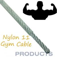 Nylon Coated Steel Cable , 11 Gym Steel Wire Rope Customized Available Manufactures