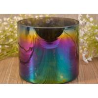 Large Iridescent Blue Ombre Decorative Glass Candle Holder For Wedding Manufactures