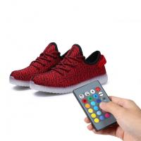 Night Jogging Remote Control LED Shoes Running Light Up Sneakers For Men Manufactures