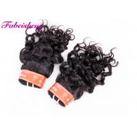 Quality Soft Smooth Italian Wave Virgin Indian Hair Extensions No Chemical Processed for sale