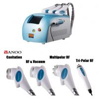 Blue Portable Cavitation RF Body Slimming Machine 4 In 1 4 Handpiece Body Weight Loss Machine Manufactures