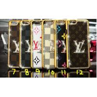 Bling LV leather PC hard Diamond Case For iPhone 4 5s 6s plus SAMSUNG galaxy S6 S7 NOTE 3 Manufactures