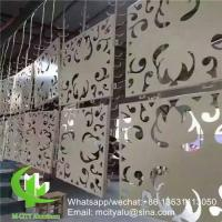 hollow pattern 2.5mm aluminum cladding panel with pvdf finish for facade curtain wall solid panel single panel Manufactures