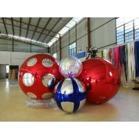 Stage Decoration Gold Mirror Ball Inflatable 3m PVC Giant High Tension Manufactures