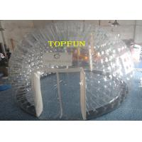 6m Diameter 1.0mm PVC Inflatable Clear Bubble Tent With Double Layers Manufactures