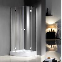 Quadrant Curved Glass Shower Enclosures For Star Rated Hotels / Model Rooms Manufactures