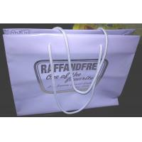 Gravure Printed Soft Packaging Poly Bags With Rope Handle , Plastic Shopping Bag Manufactures