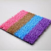 Safety Soft Low Cost Coloured Artificial Grass Playground Surface Manufactures