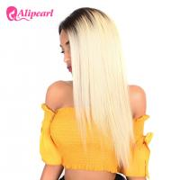 1B 613 Ombre Blonde Human Hair Lace Front Wigs Bleached Knots Swiss Lace Manufactures