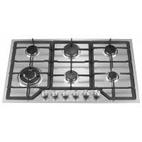 Stainless Steel 6 Burner Gas Hob , 6 Burner Gas Cooktop With Enamel Pan Support Manufactures
