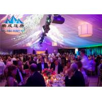 Air Conditioned Wedding Marquee Tent , Rain Proof Canopy Party Tent With Church Window Manufactures