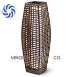 Classic Solar LED Rattan Lantern, Safe / Waterproof  Solar Rattan Floor Lamp Manufactures