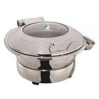 Quality Round Stainless Steel Induction Chafing Dish Optional φ36cm Food Pan 6.0Ltr with Matching Stand for sale