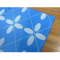 5MM printing blue tempered glass toughened glass for decoration Manufactures