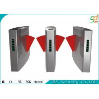 Retractable Turnstile Entry Systems Card Reader Flap Barrier Gate Manufactures