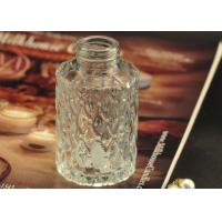 Cut Glass Perfume Bottles Antique Transparent With Emboss Pattern Manufactures