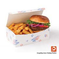Food Grade Paper Fast Food Packaging Boxes Recycled For Hamberger Manufactures