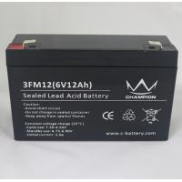 3FM12 6 Volt 12AH / 10AH AGM Lead Acid Batteries For Solar Power Stations Manufactures