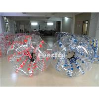 1.2MM PVC / TPU Inflatable Bumper Ball , Kids Red / Blue Dot Loopyball Soccer Manufactures