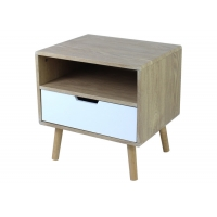 40cm Depth 50cm Length Wood Bedside Table With Drawer Manufactures