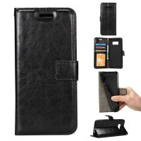 Shock Absorbent Wallet Leather Case For Samsung S8 61.7g Side Open Press Print Manufactures
