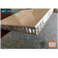 600 X 600 Mm Size Honeycomb Stone Panels Improved Anti - Pollution Ability Manufactures