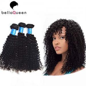 China 100% Natural Black Kinky Curly European Virgin Hair Of Human Hair Bundles on sale
