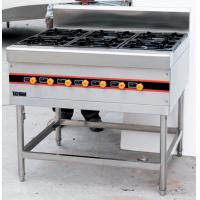 Stainless Steel Floor Burner Cooking Range BGRL-1280 For Commercial Kitchen Manufactures