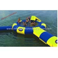 Ocean Inflatable Water Trampoline Combo With Water Launch Commercial Use Manufactures