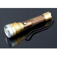 China Portable USB Flash Drive Flashlight Rechargeable Torch Light Long Distance For Hiking on sale