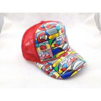 China Pre-curved peak Sublimation Trucker Mesh Cap Hat for Music Sport on sale