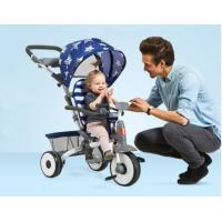 1-5 Years Baby Tricycle Bike With Reclining Seat Front Wheel With Clutch Button Manufactures