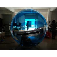 Blue color Human Inflatable Water Walking Ball , Walk On Water Balloon Manufactures