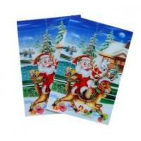 OK3D sell High quality plastic greeting  flip 3d lenticular printing with 3D images cover designed by PSDTO3D software Manufactures